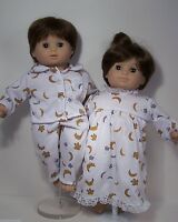 Matching Moon &stars Pajamas & Nightgown Doll Clothes For Bitty Baby Twin (debs)
