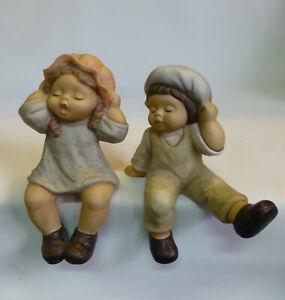 2-x-Nina-amp-Marco-Goebel-Porzellan-Figur-Limpke-Kind