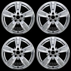2015 2017 Mustang Wheels >> Details About 4 Chrome 2015 16 2017 Ford Mustang V6 17 Wheel Skins Hub Caps Alloy Rim Covers