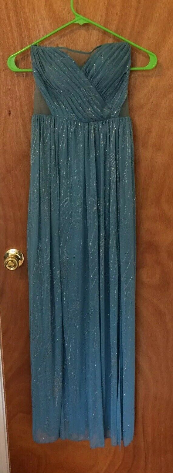 Hailey Logan by Adrianna Papell Wedding Gown Formal Size 1/2 Periwinkle Blue