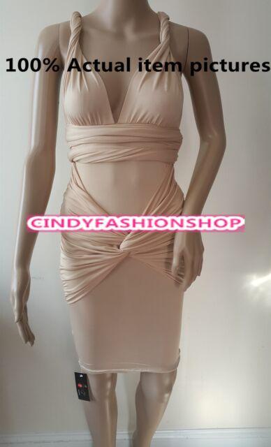 2015 New Sexy Women V-Neck Halter Tight Design Bandage Party Club wear Dress