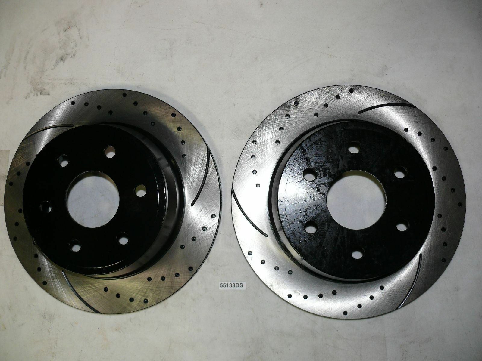 "Brake Rotors FRONT+REAR KIT ELINE /""DRILLED AND SLOTTED/"" /& CERAMIC PADS RA07016"