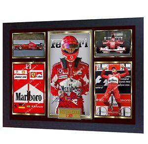 Michael-Schumacher-signed-autograph-Motor-Sport-Formula-1-photo-FRAMED-Printed