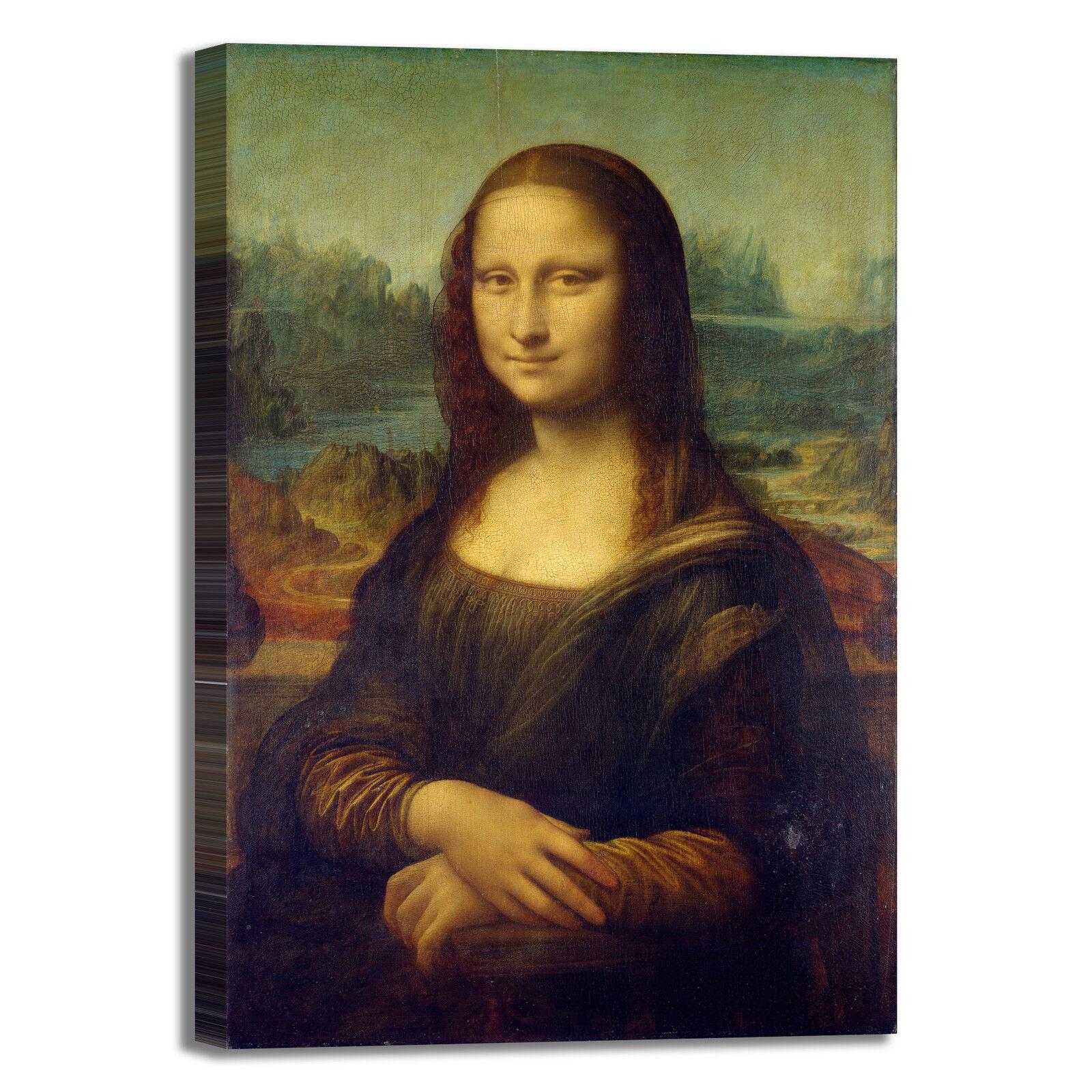 Da Vinci Gioconda Mona Lisa design quadro stampa tela dipinto telaio arrossoo casa