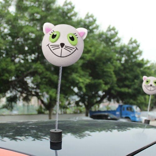 Cute White Cat Antenna Ball Car Aerial Ball Topper Decoration Lovely EVA Toy