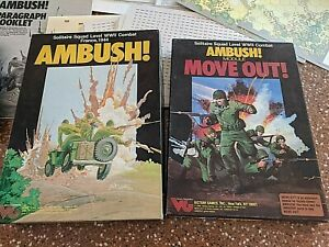 Ambush-with-Move-Out-module-Solitaire-War-Game-Victory-Games-Great-Cond