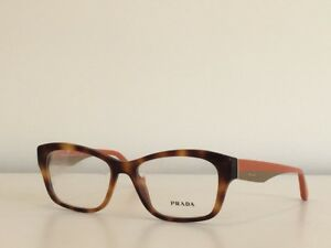 f74a46bccc0 A15 Prada VPR 24R TKR-1O1 Rectangle Eyeglasses Havana Orange Frame ...