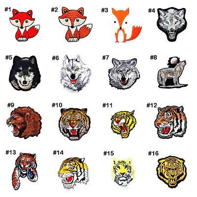 Dog Fox Face Animal Pets Cartoon Children Kids Biker Tattoo iron on patches #3