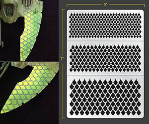 Details about DRAGON SCALES 2 VINYL SELF ADHESIVE AIRBRUSH STENCIL FALLOUT  HOBBIES PDT