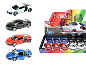AUDI-r8-modello-di-auto-auto-prodotto-con-licenza-scala-1-34-1-39