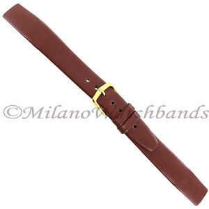 16mm-Hirsch-Brown-Genuine-Quality-Calf-Leather-Unstitched-Open-Ended-Band-Reg