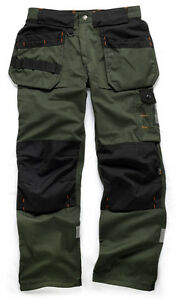 Scruffs-Trade-Trousers-Green-Hardwearing-Work-Trouser-Cordura-NEW-Workwear-Pants