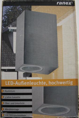 RANEX 5000.465 LED Lampada Esterno Lampada da parete muro lampada UpDown sopra il basso Alluminio ip44