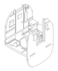 CMK-1-72-Consolidado-b-24d-b-24j-Liberator-Navegante-Compartimiento-7233