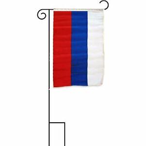 12x18-30-5cmx45-7cm-Russland-Russisch-mit-Armeln-mit-Garten-Staender-Flagge