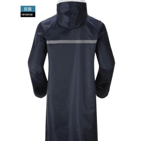 Men/'s Waterproof Raincoat Coat Long Jacket Loose Lightweight Casual Hooded Rain