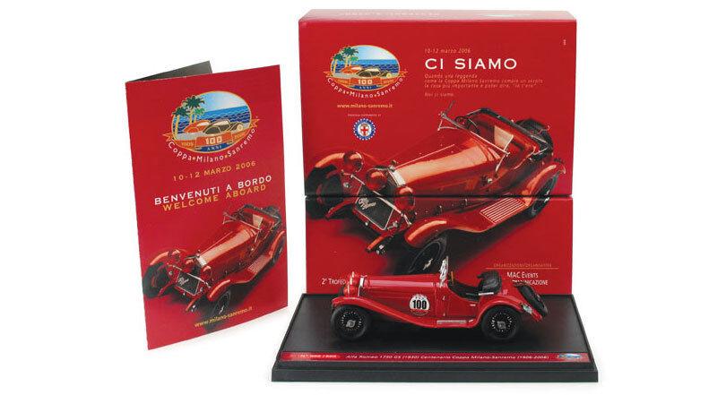 Brumm S06 03 Alfa Romeo 1750 GS 1930 Centenario Coppa Milano-San Remo - 1 43