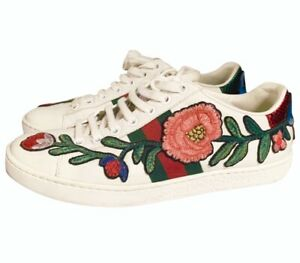 gucci flower trainers cheap online
