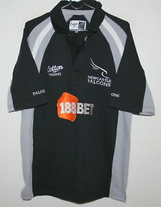 Vintage-Newcastle-Falkons-rugby-shirt-Cotton-Traders-size-M