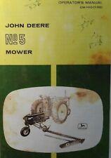 John Deere Ag Farm Tractor No 5 Caster Sickle Mower Owner Amp Maintenance Manual