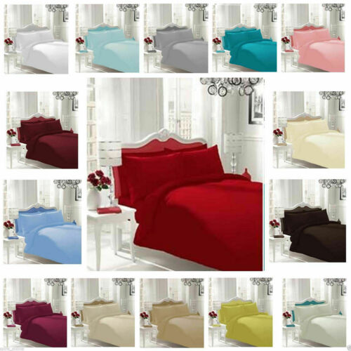 600 TC Egyptian Cotton Solid Color US Size Sheet Set//Pillow//Fitted//Flat Sheets