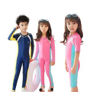 Kids-Diving-Suit-Anti-UV-Full-Body-Surfing-Swimwear-Short-Long-Sleeve-Wetsuit