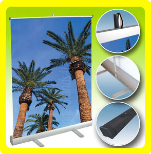 CUSTOM 36x38 Table Top Retractable Roll Pop Up Banner Stand Free Printing