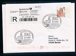 10043) Reco-lettre Ef Do-nominal 51opf/2, 61 € Sst Cottbus Hab. Plastique... 2006-afficher Le Titre D'origine Pour Classer En Premier Parmi Les Produits Similaires