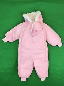 Skillful Knitting And Elegant Design Vintage Babycrest Pink Quilted Zippered Snowsuit Size 24m To Be Renowned Both At Home And Abroad For Exquisite Workmanship Girls' Clothing (newborn-5t) Baby & Toddler Clothing