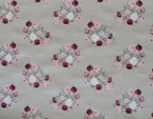 Sophie Allport Pivoine Floral Tissu Remnant Fat Quarter 50 x 50 cm