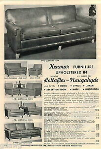 Prime Details About 1953 Advert Kenmar Furniture Sofa Sectional Arm Chair Love Seat Naugahyde Evergreenethics Interior Chair Design Evergreenethicsorg