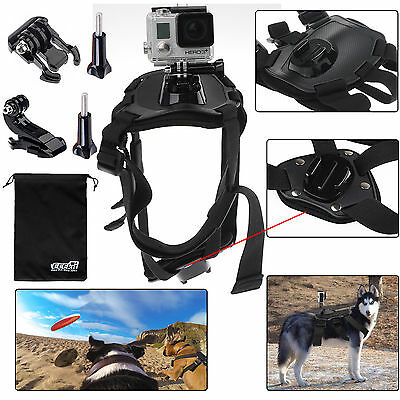 EEEKit Dog View Harness Chest Back Mount for GoPro Hero 5 4 Black Silver Session