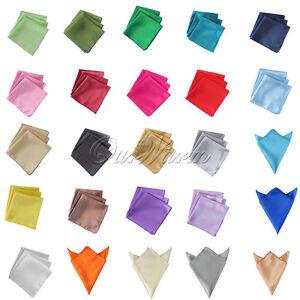 "10 Satin Cloth Napkin Pocket Handkerchief 12"" Square Multi Purpose Party Wedding"
