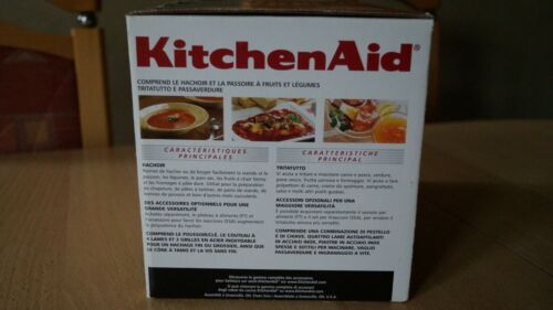 KitchenAid Zubehör Set (5FVSFGA) Fleischwolf & Pürieraufsatz  UGkyM