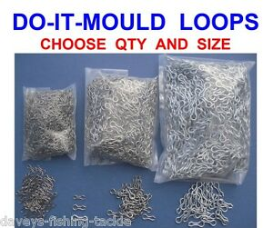 STAINLESS-STEEL-DO-IT-LOOPS-LEAD-WEIGHT-MOULD-EYES-25-50-100-500-1000-SIZE-1-2-3