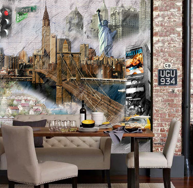 3D Many Buildings Painting 569 Wall Paper Wall Print Decal Wall AJ WALLPAPER CA
