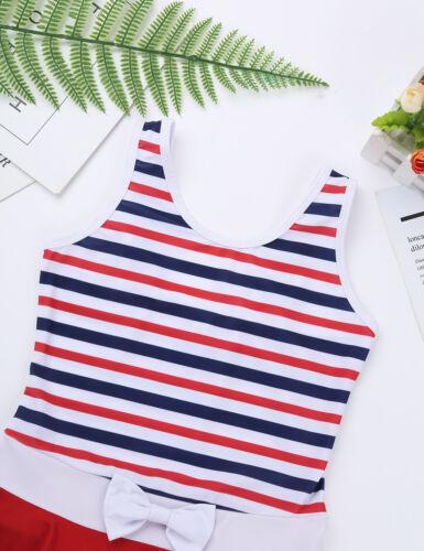 Baby Kids Girls Swimwear Tankini Dress Swimsuit Swimming Swim Bathing Costume