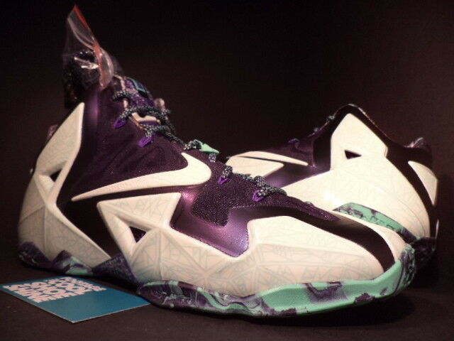 Nike lebron xi 11 come nola gumbo league all - star gator re bianco viola di nuovo