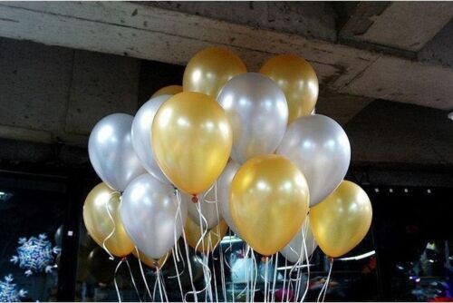 "3 x Gold Latex Balloons up to 11/"" Wedding Birthday Party Christmas Decor Balloon"