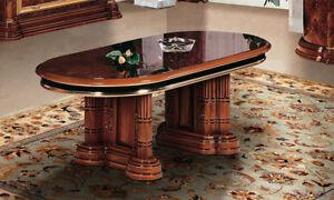 Details Zu Couchtisch Wohnzimmertisch Kaffeetisch Oval Nussbaum Hochglanz Stilmobel Italien