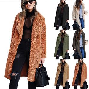 Womens-Teddy-Bear-Long-Sleeve-Coat-Ladies-Faux-Fur-Borg-Jacket-Oversized-Winter