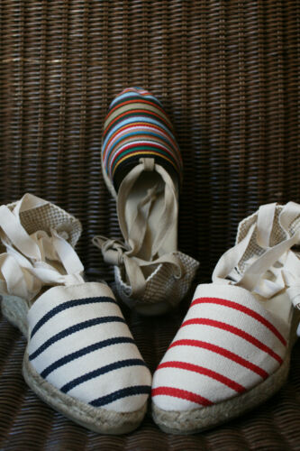 Mauléon Real Espadrilles High Heel of Country Basque Stripes