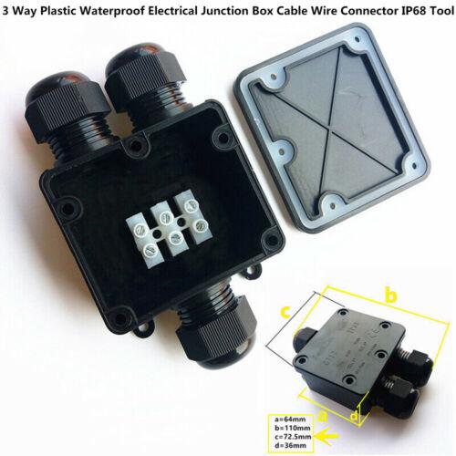 2-3 Wege Wasserdichte Abzweigdose Verteilerdose Anschlussdose Verbinder IP68