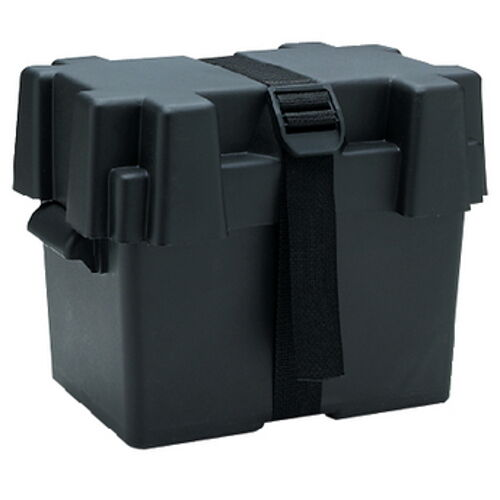 Boat Battery Box with Hold Down Strap for Standard 27 Series Batteries