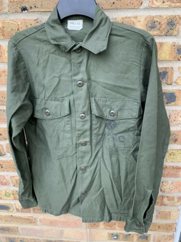 New VINTAGE 90s US Army Marines Corp Utility Shirt