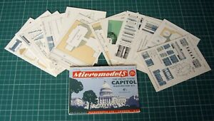1950s Vintage Original Micromodels ARC24 The United States Capitol Washington DC