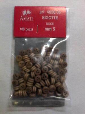 4050//07 AMATI BIGOTTE NOCE 7 MM BUSTINA DA 100 PEZZI ART