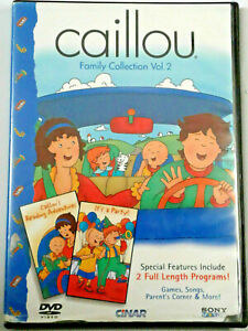 Caillou Family Collection Vol. 2(DVD, 2002)It's a Party ... Caillou Family Collection Dvd Ebay