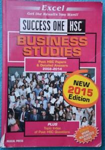 Details about HSC Business Studies Success One 2002-2014 Topics & Past  Papers 2015 ED'N As New