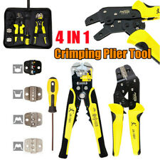 4 In 1 Auto Wire Crimper Crimping Tool Kit Pliers Ratcheting Terminal Tool Set